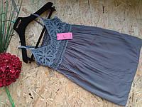 Блузка Туника из хлопка Женя 13450  серый 42-46р