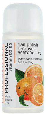 Жидкость для снятия лака без ацетона Colour Intense Professional Nail Polish Remover Aceton Free Orange