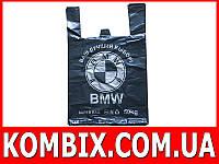 Пакет майка BMW 36*56 см черный, 30 мкн, 50kg