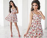 Короткое летнее платье сарафан