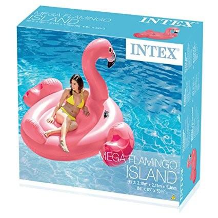 Плотик надувной Intex 56288 Фламинго  (218х211х136 см)