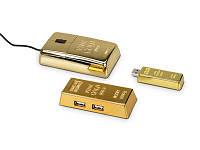 Набор компьютерных аксессуаров «Золотая долина»: оптическая мышка, USB Hub на 4 порта, флеш-карта USB 2.0 на 4 Gb, переходник