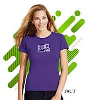 Женская  футболка Футболка SOL'S MISS с нанесением логотипа, 23 цвета, код 11386