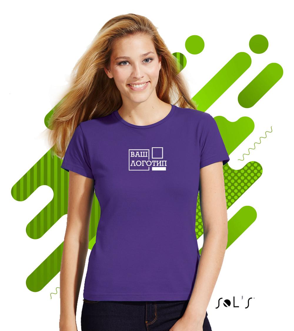 Женская  футболка Футболка SOL'S MISS с нанесением логотипа, 23 цвета, код 11386 - Евросувенир - оптовый магазин в Одессе
