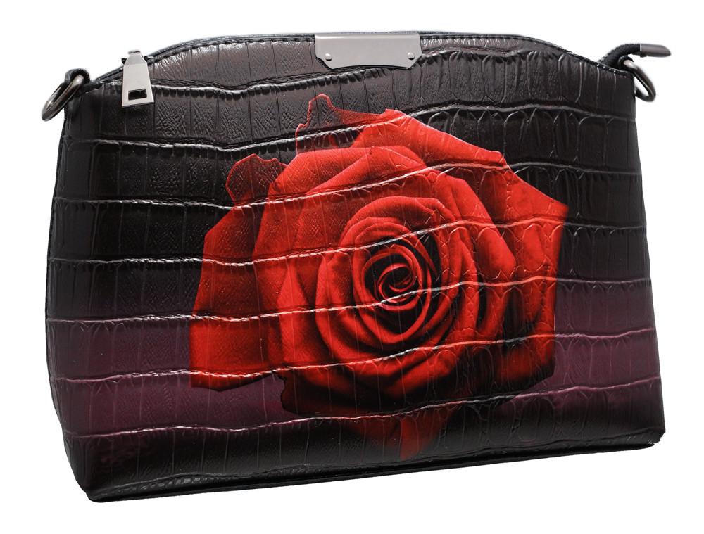 Стильная сумка 323 rose black