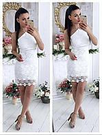 """Облегающее летнее платье-миди """"Флора"""" с кружевом (3 цвета)"""