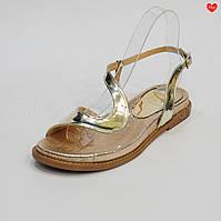 Женские сандалии золотая кожа силикон