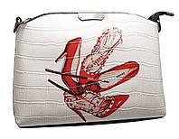 """Оригинальная женская сумка """"Red shoes"""" (323 white)"""
