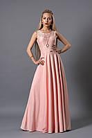 Элегантное женское платье в пол розового цвета