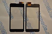 Оригинальный тачскрин / сенсор (сенсорное стекло) для Nokia Lumia 530 (черный цвет, чип Synaptics, самоклейка)