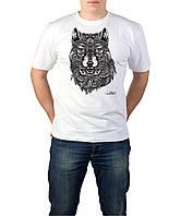 Abstract Wolf-Футболка Мужская с Дизайном