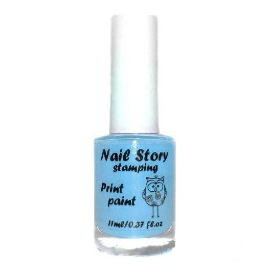 Лак для стемпинга голубой Nail story, 11 мл.