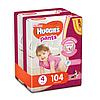 Трусики Huggies Pants для девочек 4 (9-15 кг) 2х52 шт.