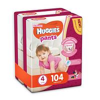 Трусики Huggies Pants для девочек 4 (9-15 кг) 2х52 шт., фото 1