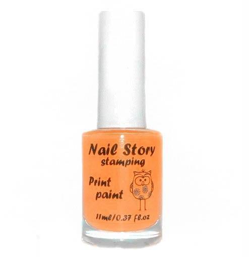 Лак для стемпинга оранжевый Nail story, 11 мл.