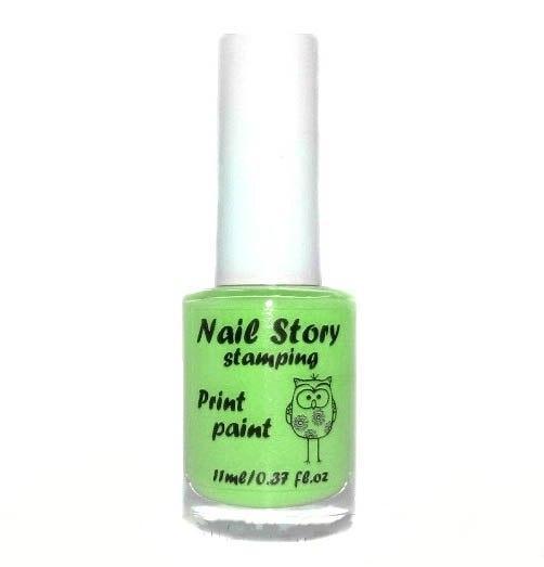 Лак для стемпинга салатовый Nail story, 11 мл.