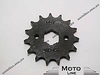 Звезда цепи приводная передняя ведущая (маленькая) 428-15Т Mototech