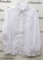 Классическая рубашка для мальчика Монализа SH-01 р.122 белый