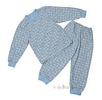Пижама тёплая  Габби 1402 р.98 голубой