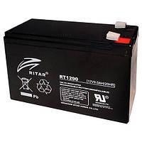 Аккумулятор ИБП 12В 9Ач AGM Ritar RT1290 / 12V 9.0Ah / 151х65х100 мм