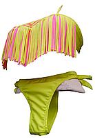 Купальник раздельный с бахромой на лифе для детей и подростков