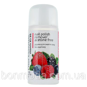 Жидкость для снятия лака без ацетона Colour Intense Professional Nail Polish Remover Aceton Free Wild Berries