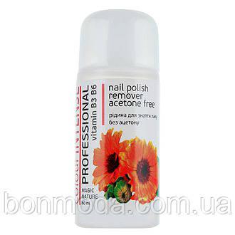 Жидкость для снятия лака без ацетона Colour Intense Professional Nail Polish Remover Aceton Free CALENDULA