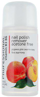 Жидкость для снятия лака без ацетона Colour Intense Professional Nail Polish Remover Aceton Free PEACHE