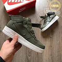 Женские Высокие Кроссовки  Nike NikeLab Air Force 1 Urban-Haze Оливковые