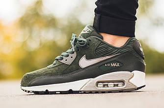Женские Кроссовки  Nike Air Max 90 LTHR 'Carbon Green Зеленые