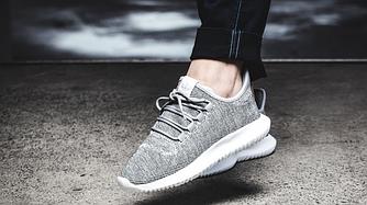 Женские Кроссовки Adidas Tubular Shadow Knit (grey) Серые