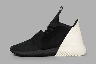 Женские Кроссовки Adidas Tubular Defiant Black Черные с Белым