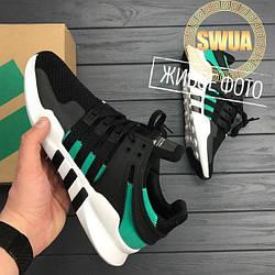 Женские Кроссовки Adidas EQT Support ADV Черные с Зеленым