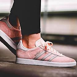 Женские Кроссовки Adidas Gazelle Shoes Haze Coral/Clear Granite/Footwear White