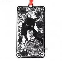 Закладка книжная Кошка игривая из металла