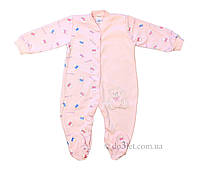 Комбинезон человечек для девочки розовый, жёлтый Мишки  Фламинго Текстиль 418_213_r р.56