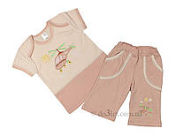 """Летний костюм для мальчика Фламинго Текстиль 473-114""""Вертолёт"""" р.74"""