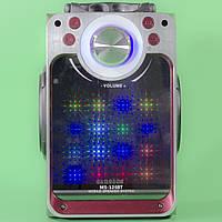 Портативная bluetooth колонка Samsung MS-126BT красная с LED подсветкой беспроводная USB TF карта mp3 FM-радио