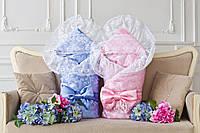 Конверт-одеяло для новорожденного  Flavien 1010мех голубой