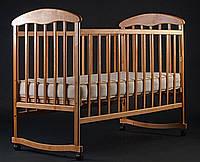 Кроватка Наталка ольха светлая, ольха тёмная N1 ольха светлая