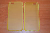 """Силиконовый чехол для Apple iPhone 6 4.7"""" (желтый, прозрачный, матовый цвет)"""
