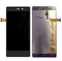 Оригинальный дисплей (модуль) + тачскрин (сенсор) для Fly IQ453 Quad Luminor (черный цвет)