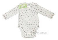 Детский бодик для новорожденного тм Бэмби BD59A р.62 белый с рисунком