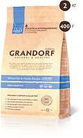 Grandorf White fish & Potato ADULT SENSITIVE 33/16 - белая рыба для взрослых кошек 2 кг