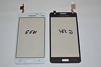 Тачскрин / сенсор (сенсорное стекло) Samsung Galaxy Grand Prime VE Duos G531 G531H G531F (белый, самоклейка)
