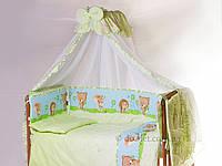 Комплект в кроватку из 8 предметов Qvatro Lux голубой