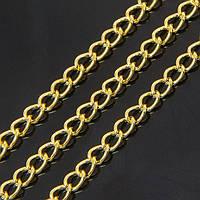 Цепь Витое Плетение, Железная, Цвет: Золото, Звено: 4.5х3мм, Толщина 1мм, (УТ100007212)