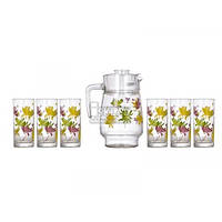 Набор для сока Luminarc Crazy Flowers 7 пр. N0802