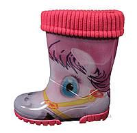 Сапоги резиновые для девочки Demar р.34 розовый лошадка