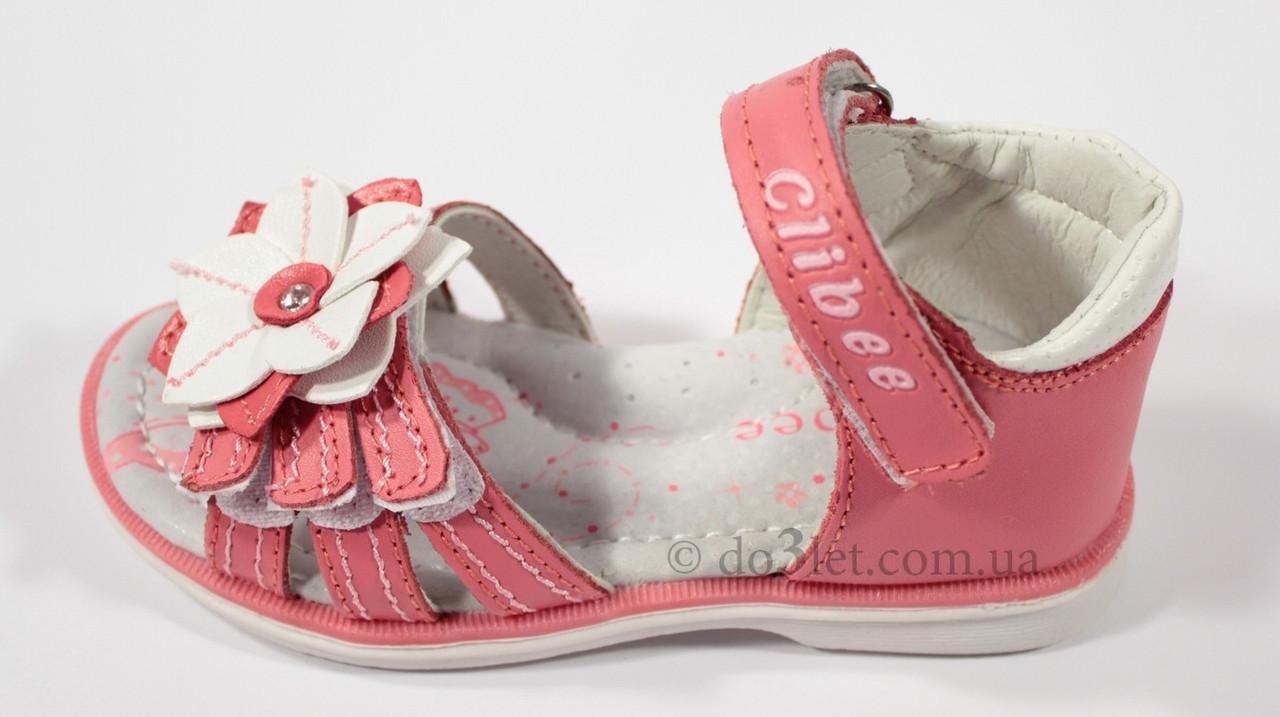 Босоножки для девочки Clibee Z-126 р.27 коралловый - DetiTop.com - интернет магазин детских товаров в Харькове